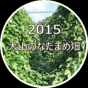 2015 大山のなたまめ畑